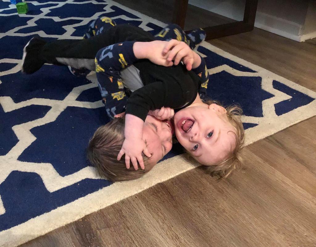 Gid & Liam Wrestling