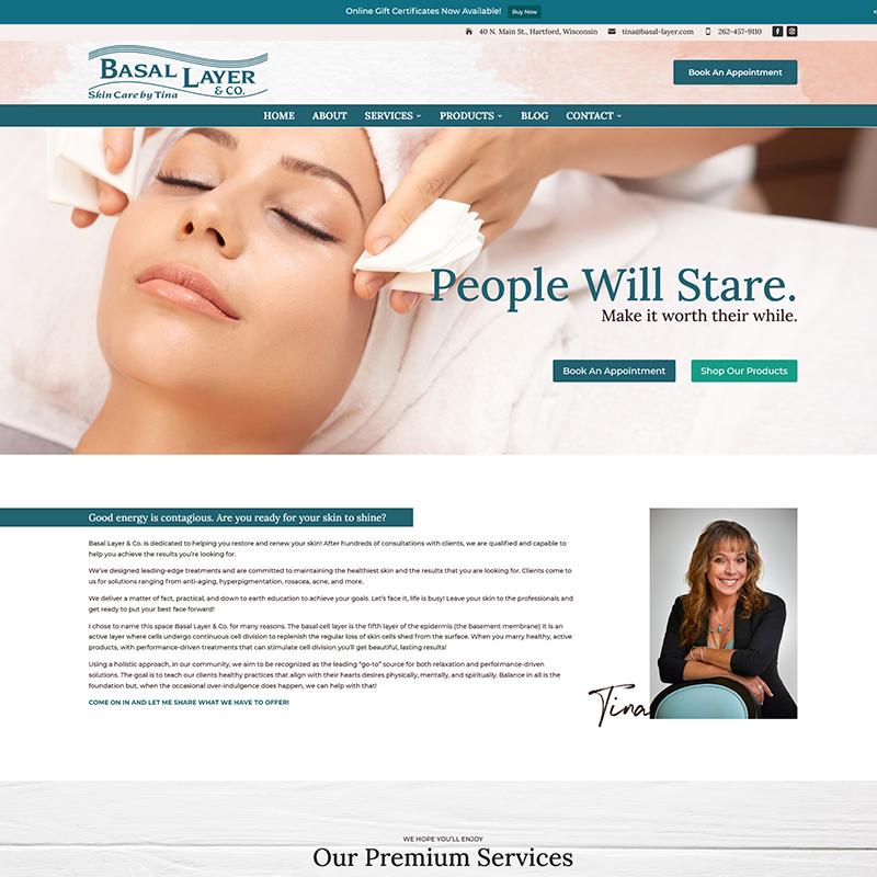 Screenshot 2021-07-14 at 10-36-06 Skincare, facials, acne, sun damage Basal Layer - Hartford, WI - by Tina